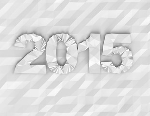 New year 2015 paper graphic-concept