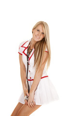 nurse stethoscope around neck posing
