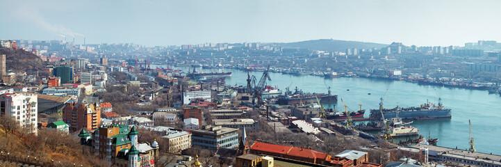 Panorama of Vladivostok, Russia