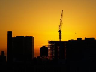 Affiche - Crane Silhouette NYC-4