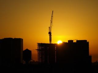Affiche - Crane Silhouette NYC-14