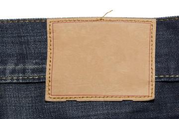 Jeans Branding; Jeans mit leerem Markenaufnäher