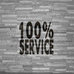 service label  on noble stone texture