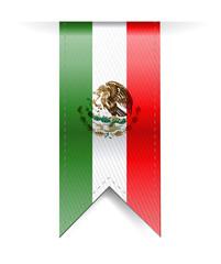 mexico flag banner illustration design