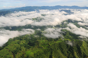 Aerial view of western Costa Rica