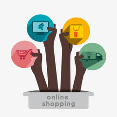 creative e-commerce icon design vector