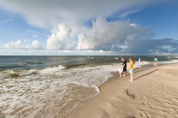 Plaża w Jastrzębiej Górze, Polska, Morze Bałtyckie