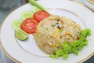 Thai food, fried rice, menu of local food in thailand