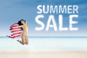 American spring sale concept