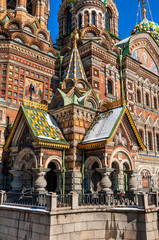 Fototapete - Entrance to the Church of the Savior on Blood, St Petersburg