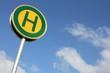 Deutsches Verkehrszeichen: Haltestelle