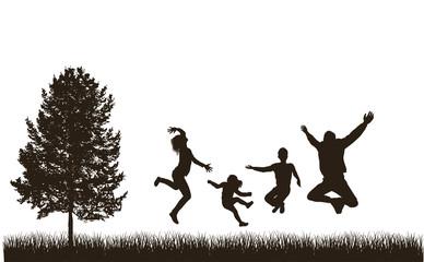 Happy family . Concept. Set