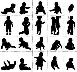 Silhouettes de bébés