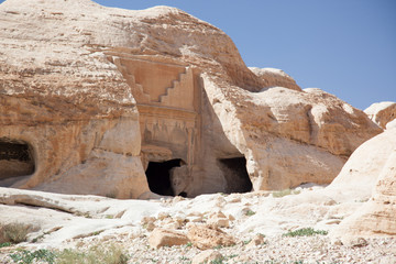 Ruins from Petra, Jordan, Middle East lost city
