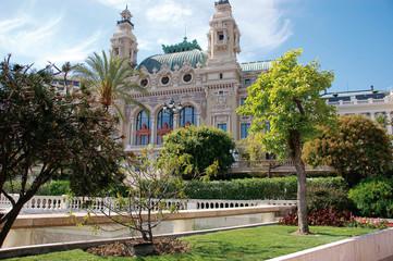 Monaco Casino Palast Architektur Garten