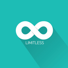 vector Limitless symbol on turquoise background