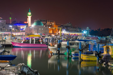 Fototapete - Akko port