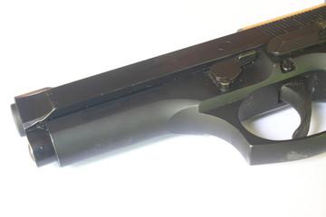 close up black Gun
