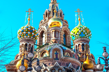 Fototapete - Cupola of the Church of the Savior on Blood, St Petersburg