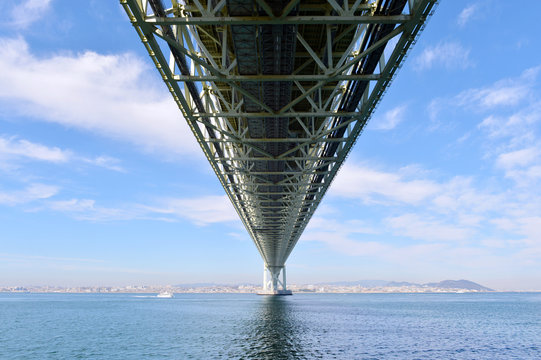 Bottom view of akashi Kaikyo bridge -2
