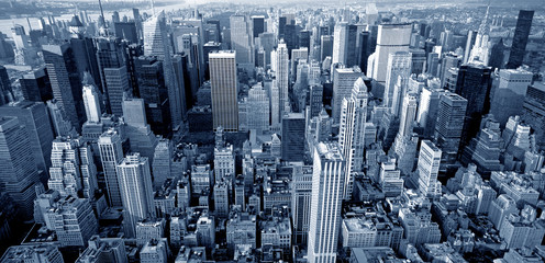 Spoed Foto op Canvas New York Manhattan top view