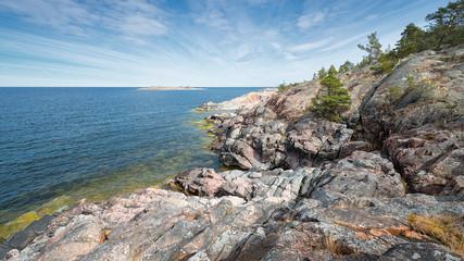 Rocky coastline at the Baltic sea