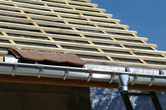 détail de couverture de toit - zinguerie