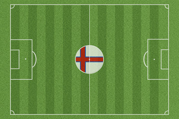 Fussballfeld Färöer Inseln