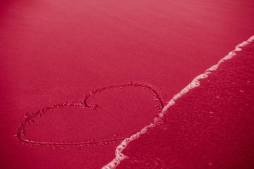 Concept of infidelity or fragile/fugitive/ephemeral love: heart