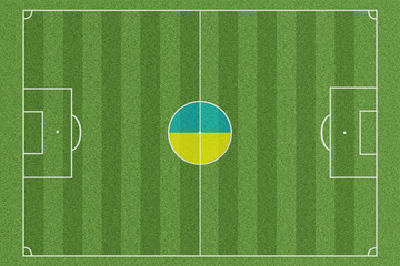 Fussballfeld Ukraine