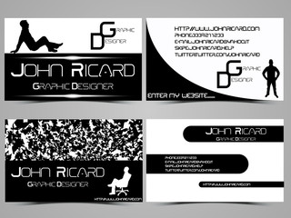 BUSINESS CARD ABSTRACT CREATIVE SET 7