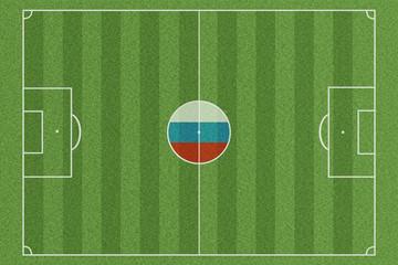 Fussballfeld Russland