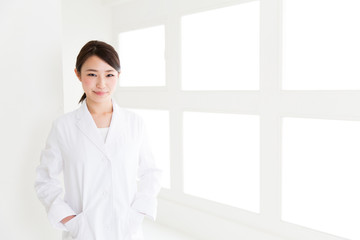 young asian doctor in the hospital