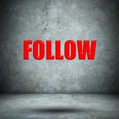 Follow on concrete wall