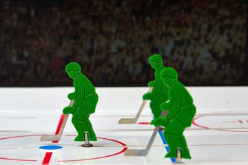 Three hockey players
