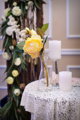Elegant Table Setting at a Wedding Reception