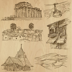 Famous places and Buildings (vector pack no. 20)