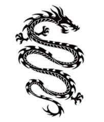 Tribal dragon tattoo