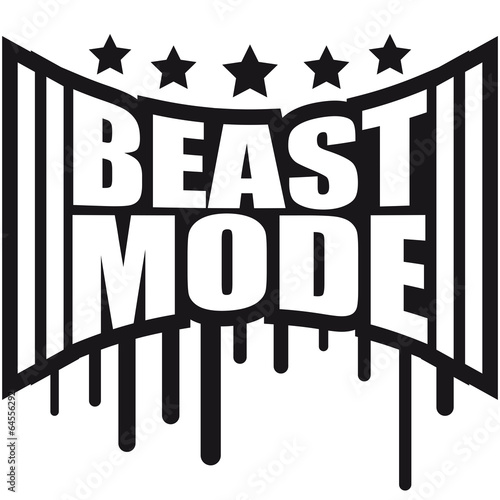 quotbeast mode power graffitiquot stock photo and royaltyfree