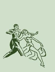 Dancing ballroom dance couple