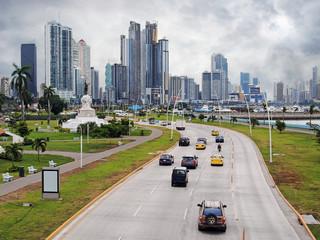 Highway and skyscraper in Panama City