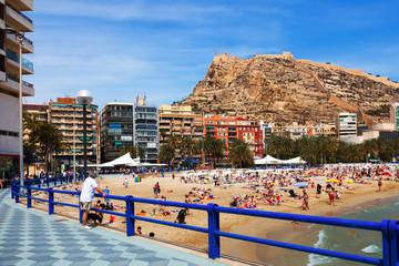 Spring view of coast in Alicante, Spain