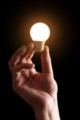lit lightbulb