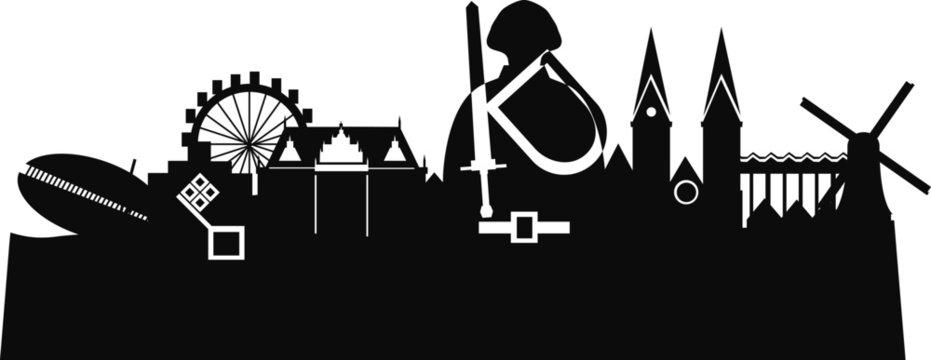 Bremen Deutschland Silhouette