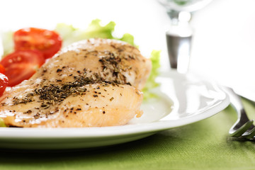 Chicken meet on plate