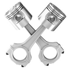 Engine pistons. 3D image.