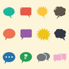 speech bubble flat