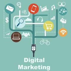 infographic - digital marketing concept