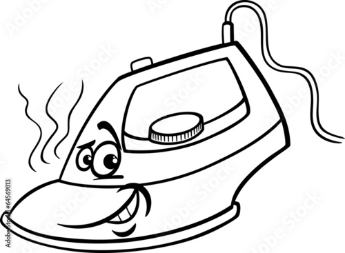 u0026quot hot iron cartoon coloring page u0026quot  stock image and royalty
