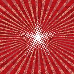 red burst white star